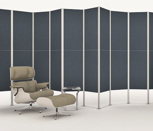 Shade by Makro, a modular folding screen for a sensory microcosm
