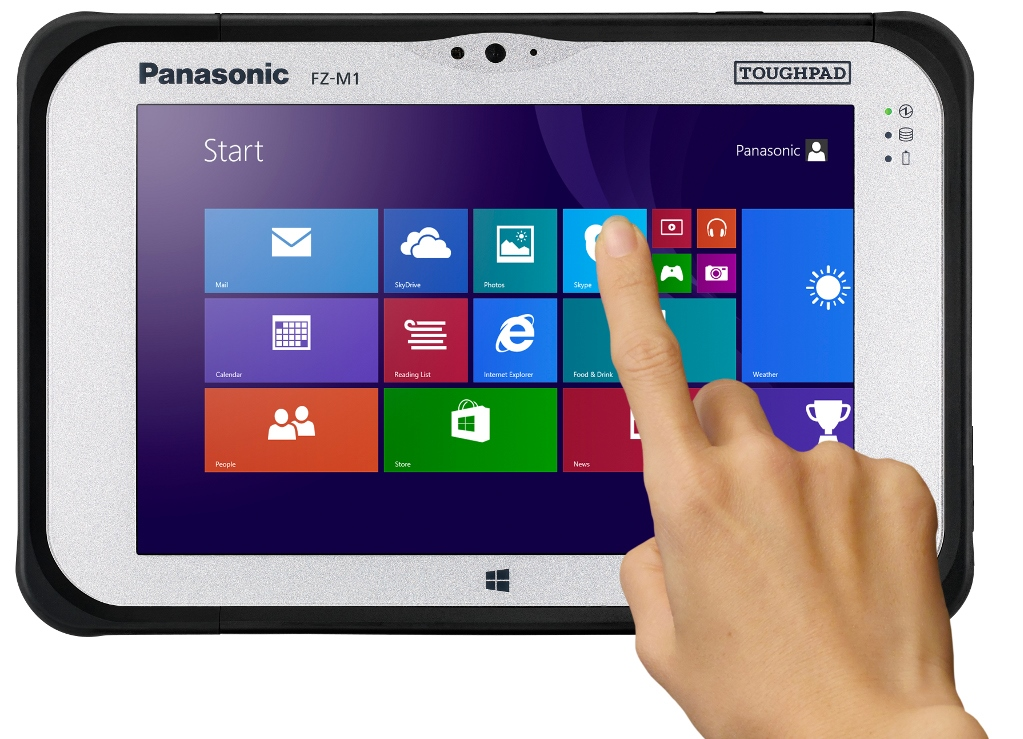 Panasonic tablet 7 pollici Fully Rugged Windows 8.1 PRO