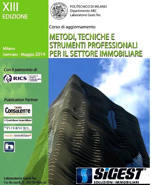 Politecnico Milano: corsi Metodi Tecniche Strumenti Immobiliari