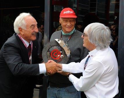 BREMBO premia Niki Lauda al Gran Premio Italia F1