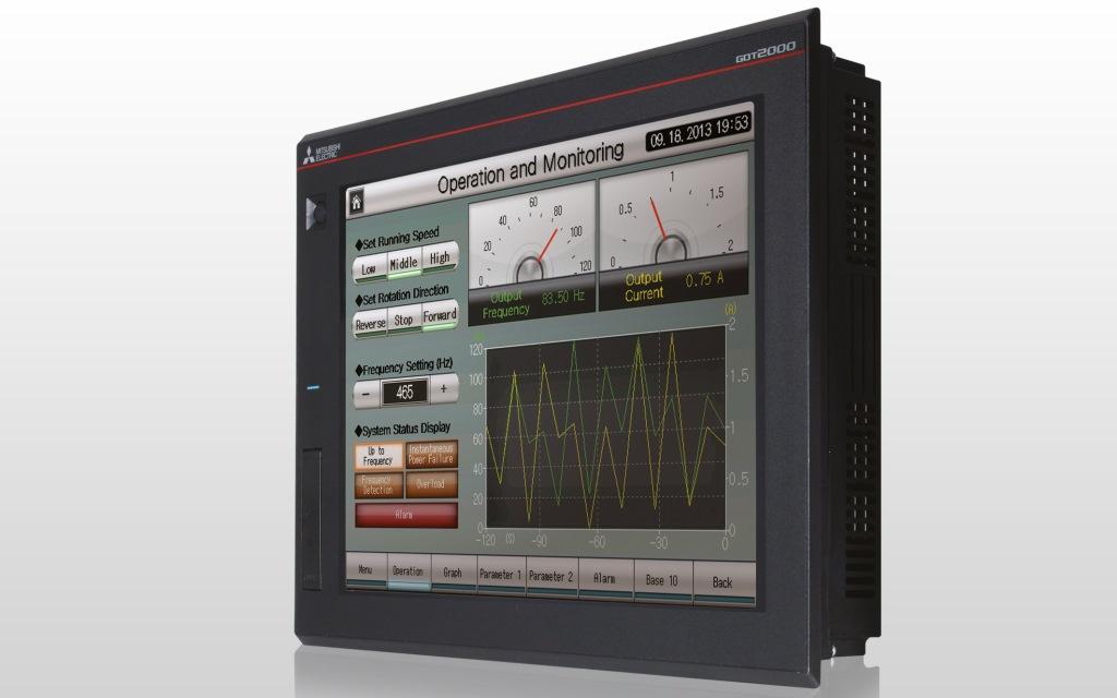 Mitsubishi Electric HMI multi-touch per controllo produzione