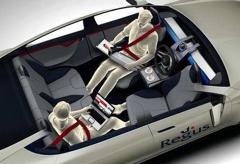 Regus progetta veicolo-ufficio autoguidato