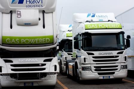 Truck Scania Euro 6 a metano a HAVI Logistics