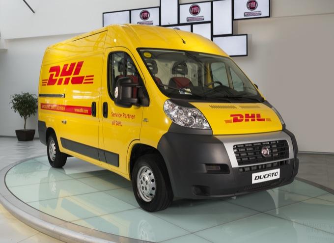 Flotta automezzi DHL a metano FIAT