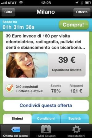 Groupon disponibile anche su iPhone, iPad e iPod Touch