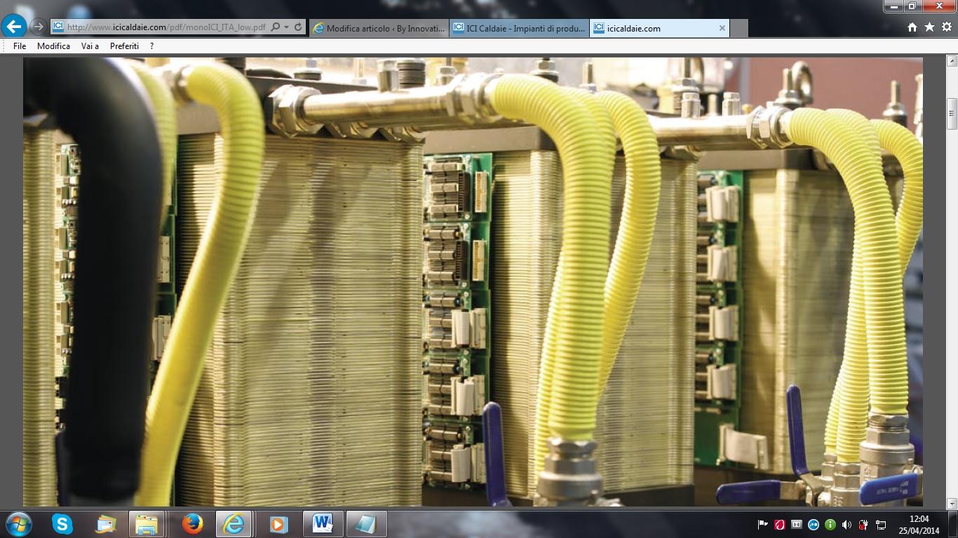 Centrali termiche esterne industriali ICI Caldaie