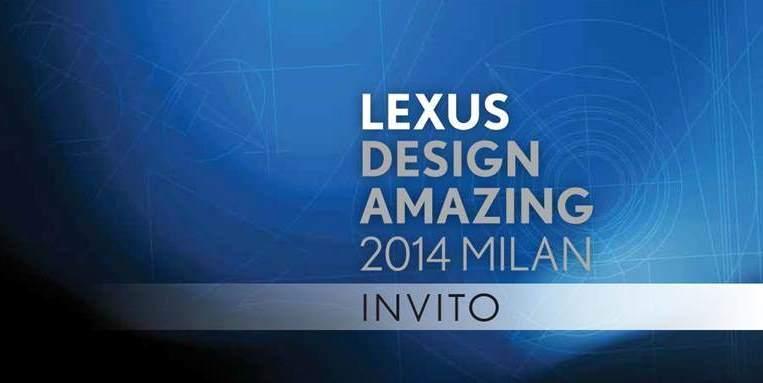 Lexus Design Award 2014 a Milano
