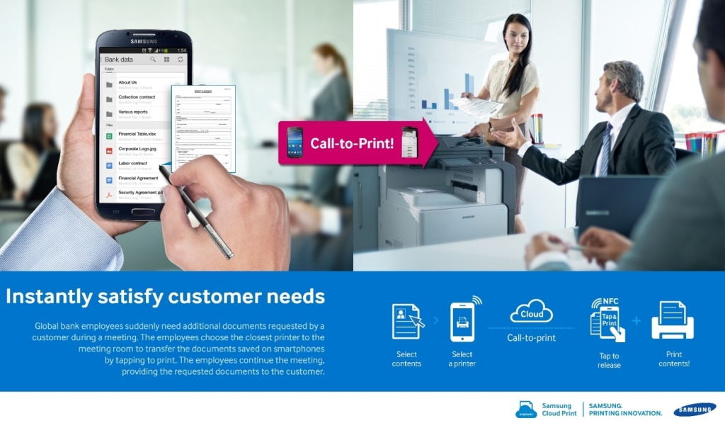Samsung Cloud Print mobile printing cloud per Piccole Medie Imprese