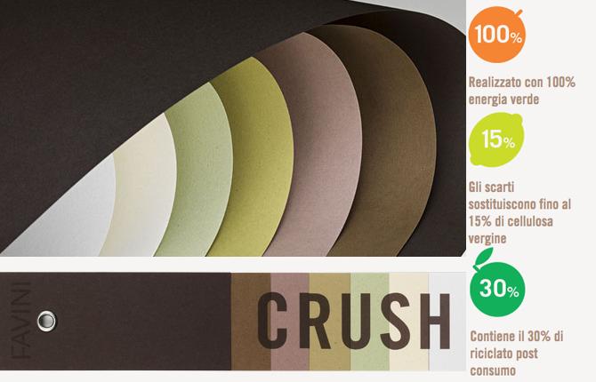 Crush Favini carta ecologica estratta da scarti agroindustriali