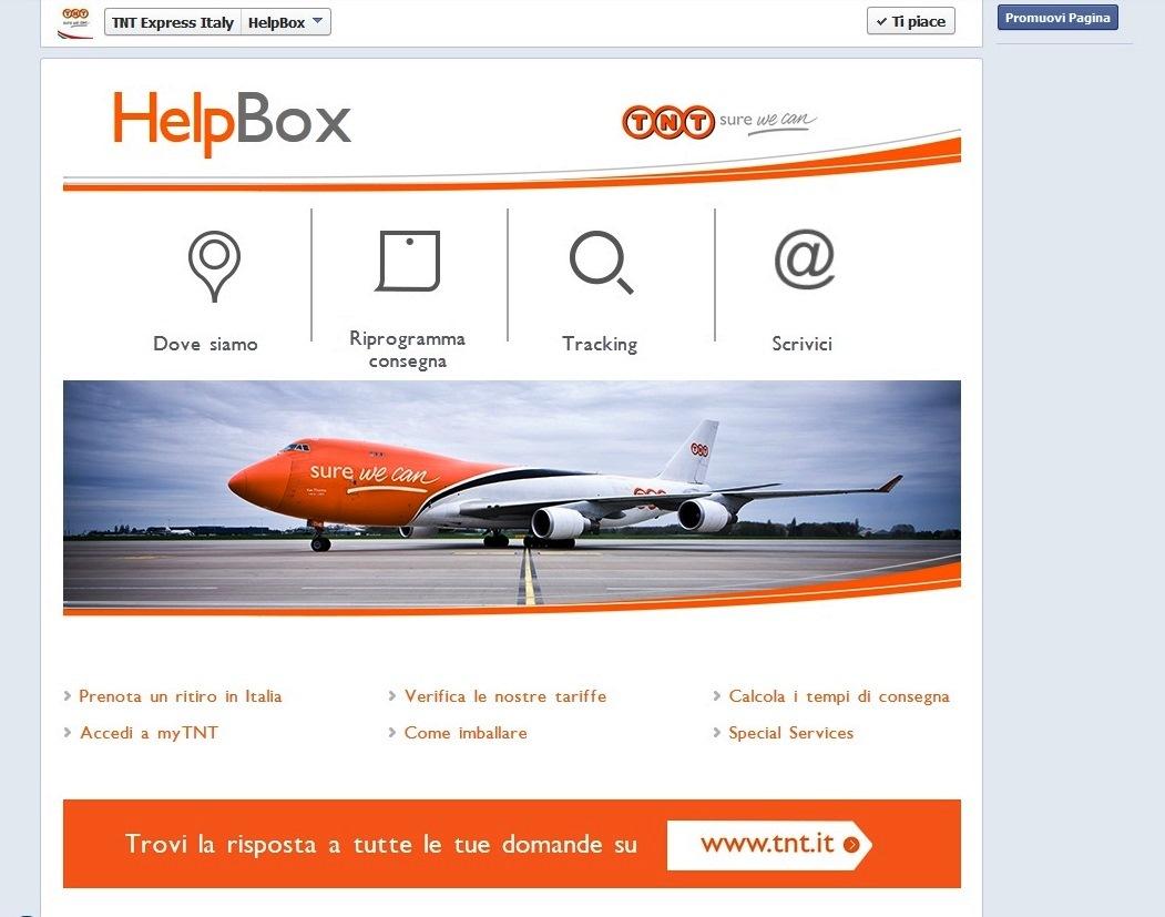 Help Box: il lato social di TNT Express Italy