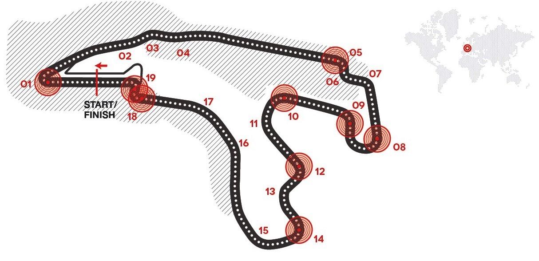 Formula 1 Gran Premio Belgio: Brembo carta identità Circuit de Spa-Francorchamps