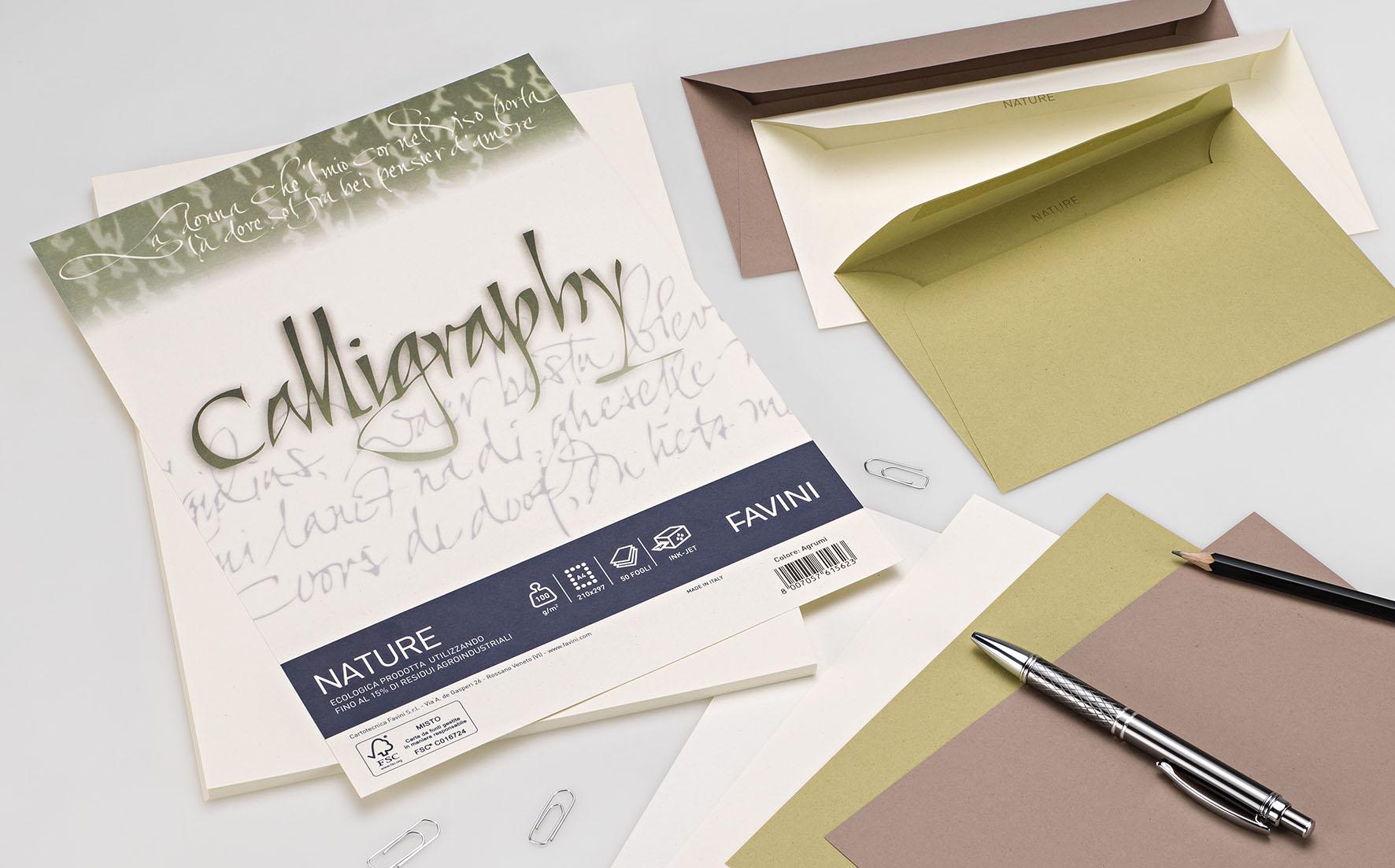 Carta Favini Calligraphy sempre più ecologica