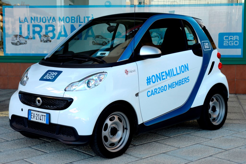 1 milione di clienti car2go: la più grande società car-sharing nel mondo