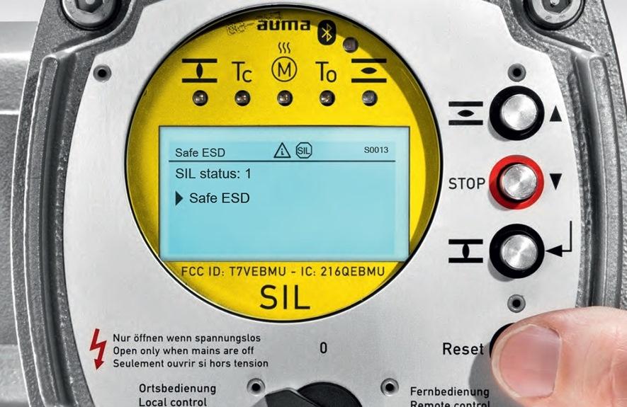 AUMA migliora la sicurezza funzionale SIL dei propri attuatori