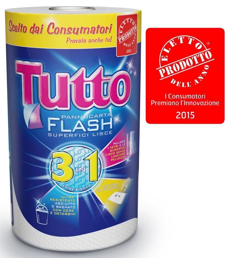 I consumatori italiani eleggono Tutto Flash Lucart Prodotto dell'Anno 2015