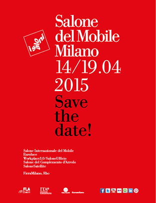 Salone del Mobile.Milano 2015: furnishing, lighting and workspace excellence
