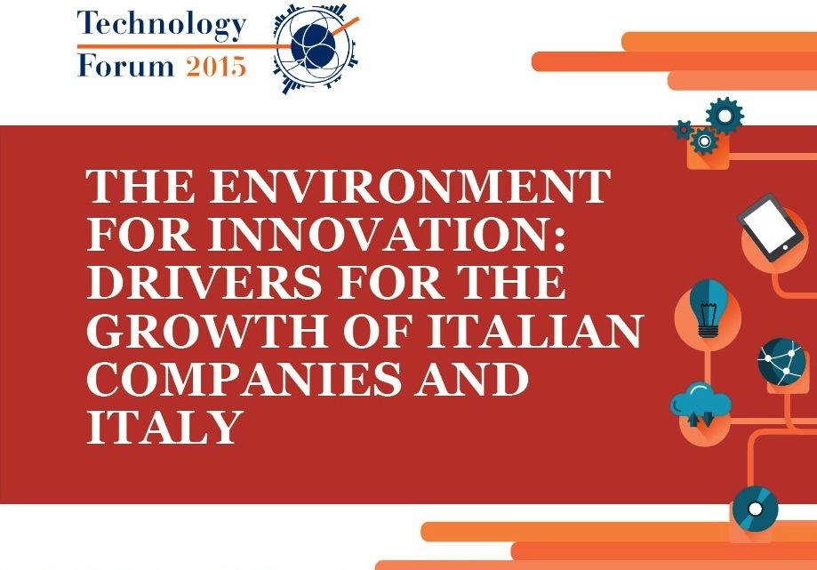Ecosistema Innovazione al Technology Forum 2015