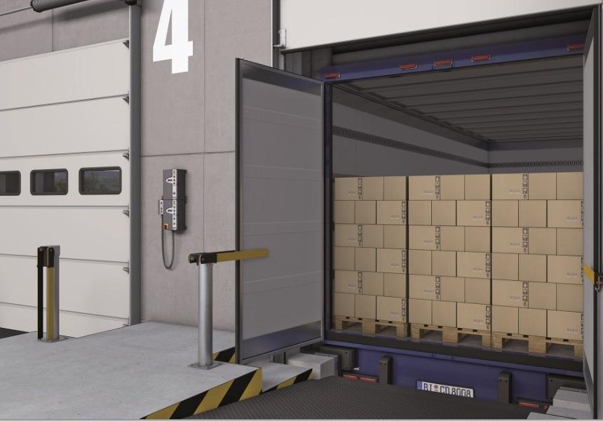 Portone DOBO (Docking Before Opening) per logistica del freddo