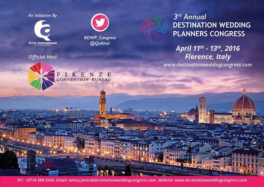 Firenze ospiterà il terzo Congresso annuale dei Wedding Planners 2016