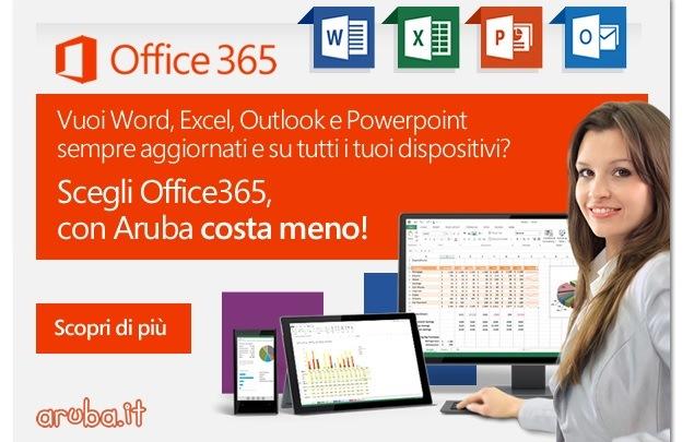 Aruba e Microsoft insieme: Office 365