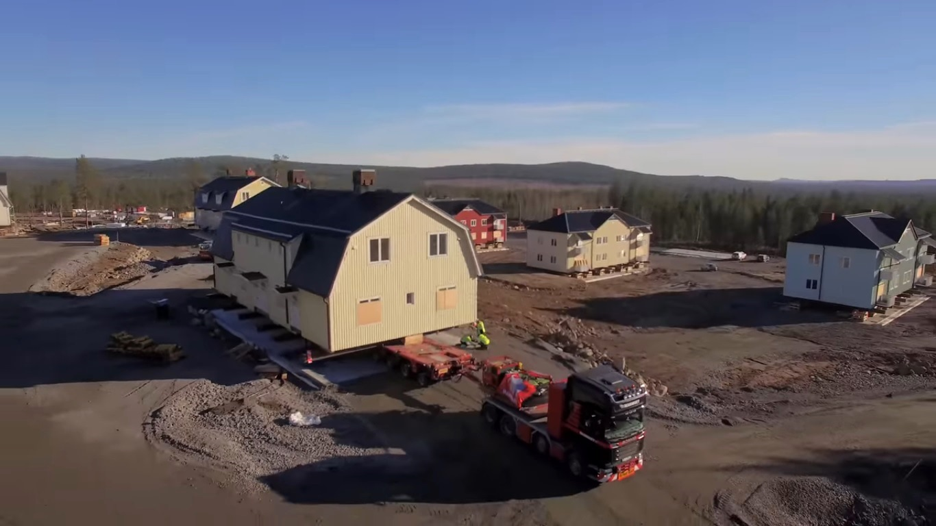 Moving a village with Scania