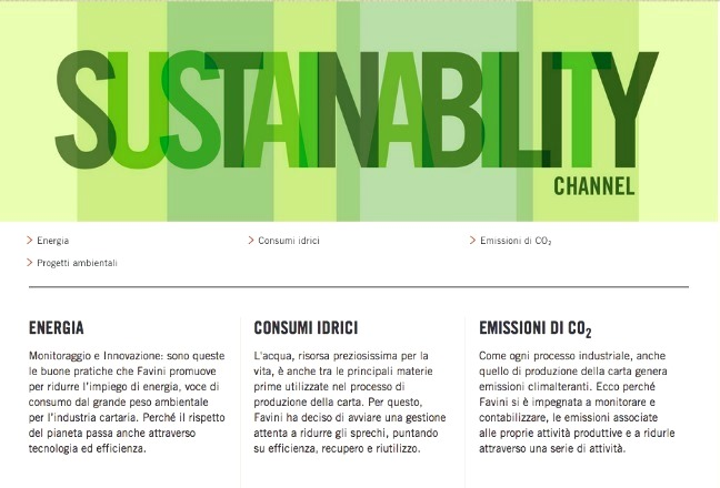 Favini Sustainability Channel
