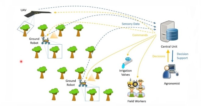 Agricoltura con robot aerei