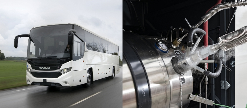 Scania bus metano lunghe distanze