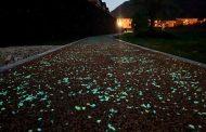 Pista ciclabile luminescente