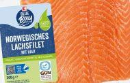 Algal-fed salmon in retail